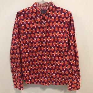 Robert Graham red orange button down size 12